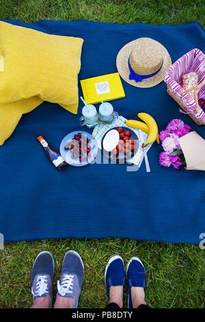 Bright summer picnic - Stock Photo