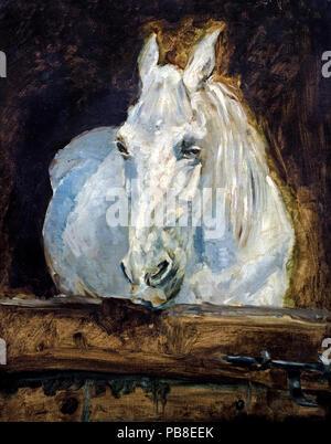 White Horse ( Gazelle ) 1881 Henri de Toulouse Lautrec 1864-1901 France French - Stock Photo