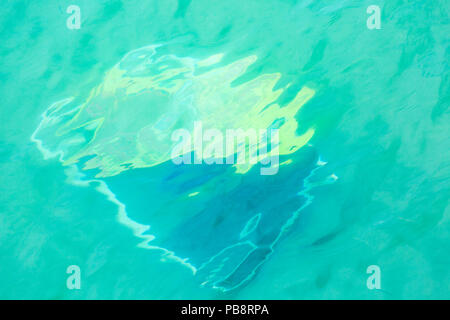 Bournemouth, Dorset, UK. 27th July 2018. Discarded beach accessories left in the sea at Bournemouth beach -  pollution concept. Credit: Carolyn Jenkins/Alamy Live News - Stock Photo