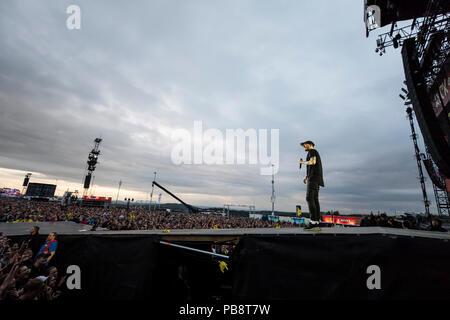 Berlin, Deutschland. 01st June, 2018. 19/Casper, rapper Casper (Benjamin Griffey) live at the Rock am Ring Festival from 01.-03.06.2018 on the Nuerburgring in the Vulkaneifel. 30STM, rap, rap rock, music   usage worldwide Credit: dpa/Alamy Live News - Stock Photo