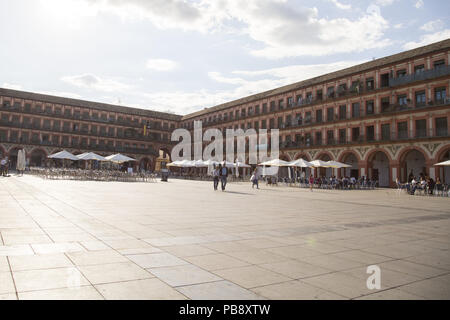 June 10, 2018 - CóRdoba, Spain - Plaza Mayor of Córdoba.Córdoba was the capital of the Later Hispania in the times of the Roman Republic, or of the Bética province during the Roman Empire and the Caliphate of Córdoba during the Muslim era. Credit: Lito Lizana/SOPA Images/ZUMA Wire/Alamy Live News - Stock Photo