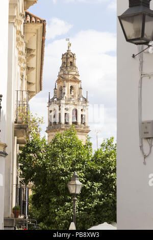 June 10, 2018 - CóRdoba, Spain - Belfry of the Mosque-Cathedral of Cordoba.Córdoba was the capital of the Later Hispania in the times of the Roman Republic, or of the Bética province during the Roman Empire and the Caliphate of Córdoba during the Muslim era. Credit: Lito Lizana/SOPA Images/ZUMA Wire/Alamy Live News - Stock Photo
