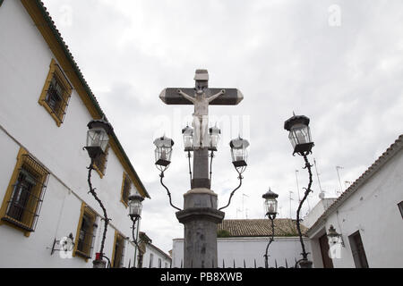 June 10, 2018 - CóRdoba, Spain - Christ of the Lanterns of day.Córdoba was the capital of the Later Hispania in the times of the Roman Republic, or of the Bética province during the Roman Empire and the Caliphate of Córdoba during the Muslim era. Credit: Lito Lizana/SOPA Images/ZUMA Wire/Alamy Live News - Stock Photo
