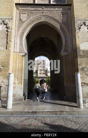 June 10, 2018 - CóRdoba, Spain - Entrance to the Mosque-Cathedral of Cordoba.Córdoba was the capital of the Later Hispania in the times of the Roman Republic, or of the Bética province during the Roman Empire and the Caliphate of Córdoba during the Muslim era. Credit: Lito Lizana/SOPA Images/ZUMA Wire/Alamy Live News - Stock Photo