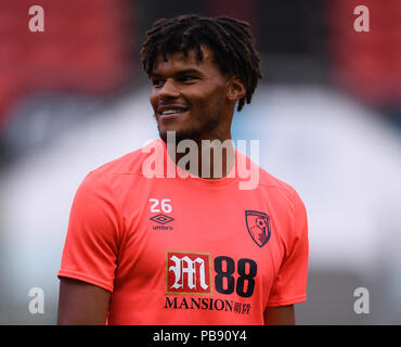 Ashton Gate, Bristol, UK. 27th July, 2018. Pre Season football friendly, Bristol City versus AFC Bournemouth; Tyrone Mings of AFC Bournemouth warms up Credit: Action Plus Sports/Alamy Live News - Stock Photo