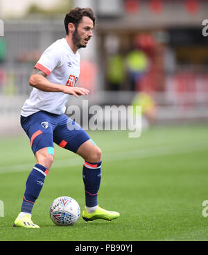Ashton Gate, Bristol, UK. 27th July, 2018. Pre Season football friendly, Bristol City versus AFC Bournemouth; Adam Smith of AFC Bournemouth on the ball Credit: Action Plus Sports/Alamy Live News - Stock Photo