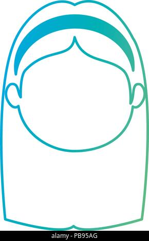 cute and little girl head character vector illustration design - Stock Photo