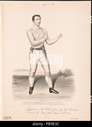 836 John C. Heenan, the champion of America- (the benicia boy) LCCN2002707678 - Stock Photo
