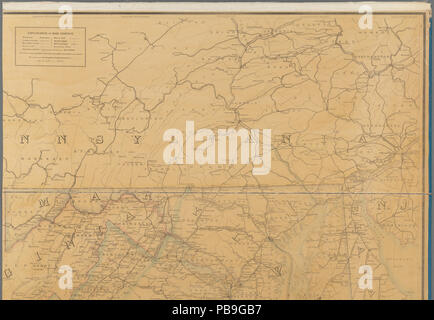 Map Of Ohio West Virginia And Pennsylvania.1224 Preliminary Post Route Map Of The States Of Virginia And West