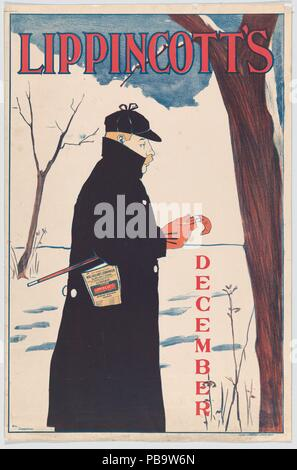 Lippincott's: December. Artist: William L. Carqueville (American, Chicago, Illinois 1871-1946). Dimensions: Sheet: 19 in. × 12 7/16 in. (48.2 × 31.6 cm)  Image: 18 1/4 × 11 15/16 in. (46.3 × 30.3 cm). Printer: Shober & Carqueville Litho. Co. (American, founded 1865). Publisher: J. B. Lippincott Company (Philadelphia). Date: 1894. Museum: Metropolitan Museum of Art, New York, USA.