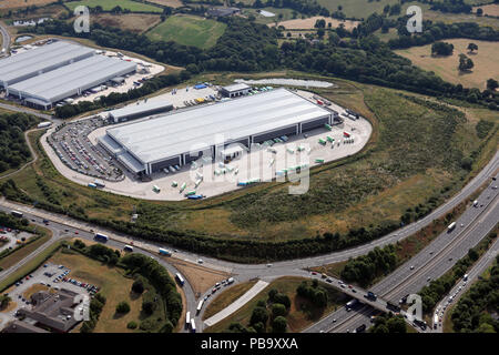 aerial view of the Co-Op Castlewood Distribution Centre, Sutton-in-Ashfield - Stock Photo