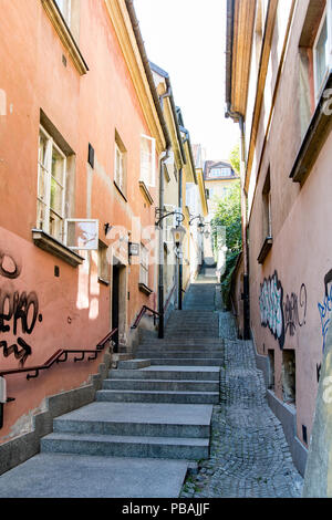 Kamienne schodki in old town of Warsaw - Stock Photo