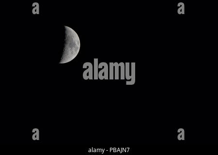 The Moon on black background - Stock Photo