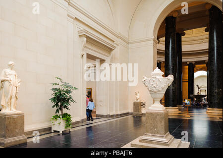 WASHINGTON, USA - SEP 24, 2015: Interior of the National Gallery of Art, a national art museum in Washington, D.C., National Mall, between 3rd and 9th - Stock Photo