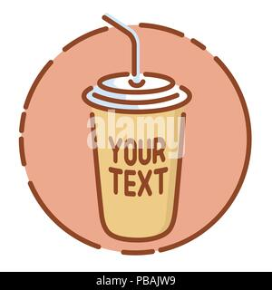 Take away coffee icon, flat design vector illustration - Stock Photo