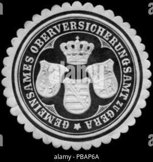 1390 Siegelmarke Gemeinsames Oberversicherungsamt zu Gera W0255869 - Stock Photo