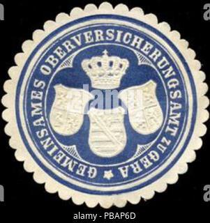 1390 Siegelmarke Gemeinsames Oberversicherungsamt zu Gera W0211690 - Stock Photo