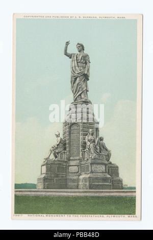 1083 National Monument to the Forefathers, Plymouth, Mass (NYPL b12647398-74531) - Stock Photo