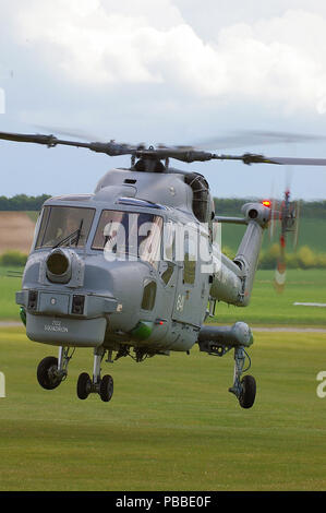 Royal Navy Fleet Air Arm Westland Lynx HMA8 helicopter of 702 Squadron - Stock Photo