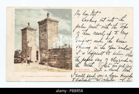 1130 Old City Gate, St. Augustine, Fla (NYPL b12647398-62387) - Stock Photo