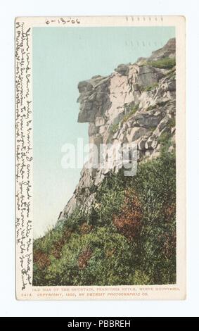 1132 Old Man of the Mountains, Franconia Notch, White Mountains (NYPL b12647398-62116) - Stock Photo