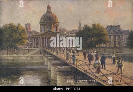 1168 Paris, L'Institut Et Le Pont Des Arts. (Beraud-112)-Paris, L'Institut Et Le Pont Des Arts.... (NBY 420577) - Stock Photo