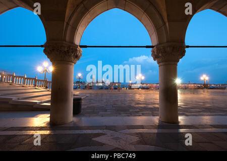 Riva degli Shiavoni, San Marco, Venice, Italy - Stock Photo