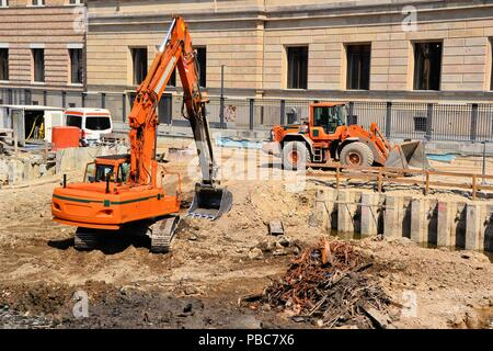 Construction site on the Museum Island in Berlin - Stock Photo
