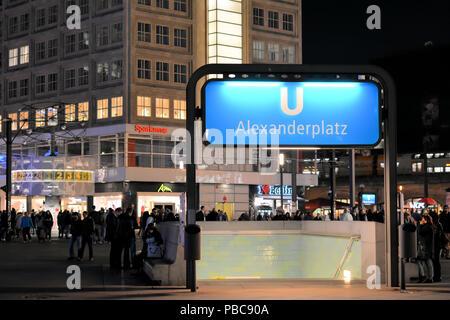 Subway station Alexanderplatz in Berlin - Stock Photo