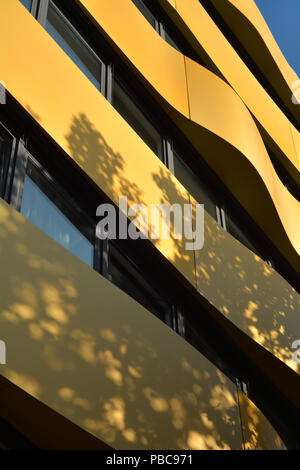 Modern facade of a residential building in the city center of Berlin
