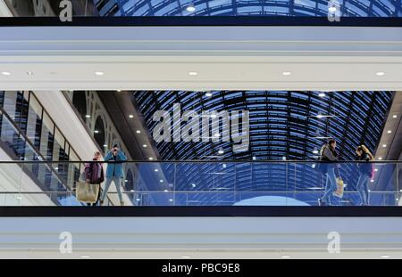 Shopping center LP 12 at Leipziger Platz in Berlin - Stock Photo