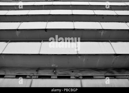 Balconies of a residential building in Berlin - Stock Photo