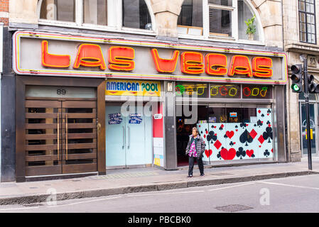 Las Vegas Arcade a videogame amusement arcade located next to Chinatown in the heart of Soho, Wardour Street, Soho, London, UK - Stock Photo