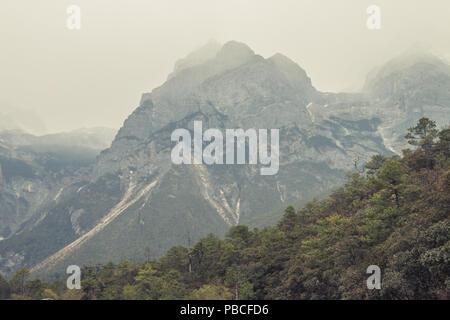 Yulong Snow Mountain, Lijiang, Yunnan, China - Stock Photo