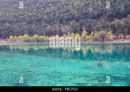 Blue Moon Valley in Lijiang, Yunnan, China - Stock Photo
