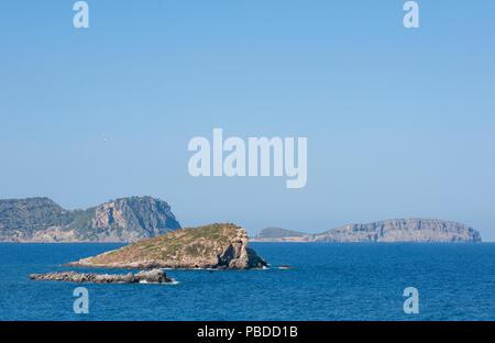north eastern coast of Ibiza Island, Balearic Islands, Mediterranean Sea, Spain, Europe - Stock Photo