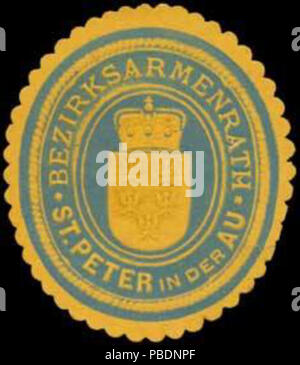 1326 Siegelmarke Bezirksarmenrath St. Peter in der Au W0320931 - Stock Photo