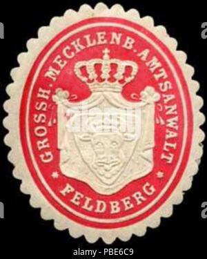 1396 Siegelmarke Grossherzoglich Mecklenburgischer Amtsanwalt - Feldberg W0237548 - Stock Photo