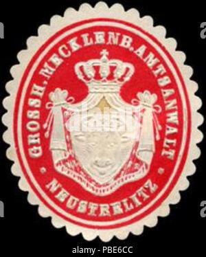 1396 Siegelmarke Grossherzoglich Mecklenburgischer Amtsanwalt - Neustrelitz W0205082 - Stock Photo