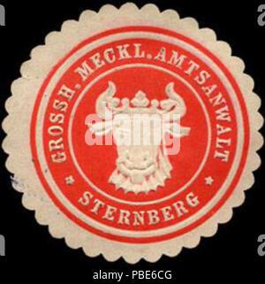 1396 Siegelmarke Grossherzoglich Mecklenburgischer Amtsanwalt - Sternberg W0220650 - Stock Photo