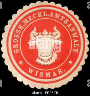 1396 Siegelmarke Grossherzoglich Mecklenburgischer Amtsanwalt - Wismar W0220691 - Stock Photo
