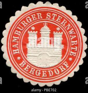 1399 Siegelmarke Hamburger Sternwarte - Bergedorf W0232606 - Stock Photo