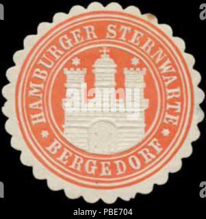 1399 Siegelmarke Hamburger Sternwarte Bergedorf W0384208 - Stock Photo