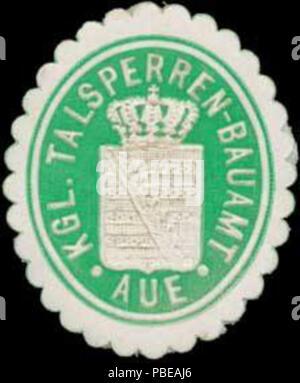 1417 Siegelmarke K. Talsperren-Bauamt Aue W0350427 - Stock Photo