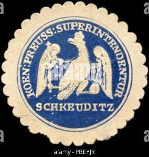 1442 Siegelmarke Koeniglich Preussische Superintendentur Schkeuditz W0219823 - Stock Photo