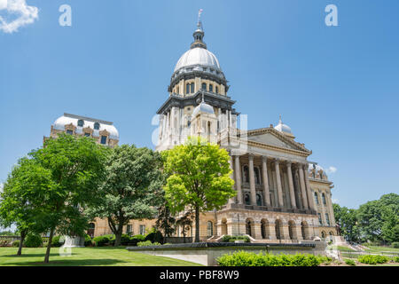 Illinois State Capital Building in Springfield, Illinois - Stock Photo