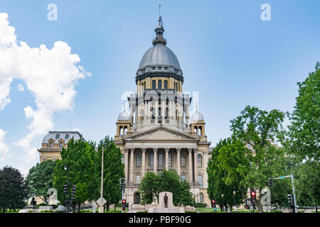 Illinois State Capital Building in Springfield, Illinois - Stock Photo