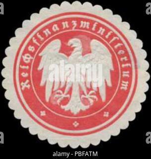 1501 Siegelmarke Reichsfinanzministerium W0368037 - Stock Photo