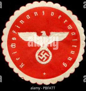 1501 Siegelmarke Reichsfinanzverwaltung W0204934 - Stock Photo