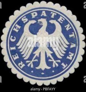 1502 Siegelmarke Reichspatentamt W0360192 - Stock Photo